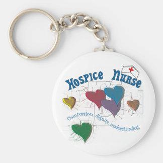 Hospice Nurse Multi Colored Hearts Keychain