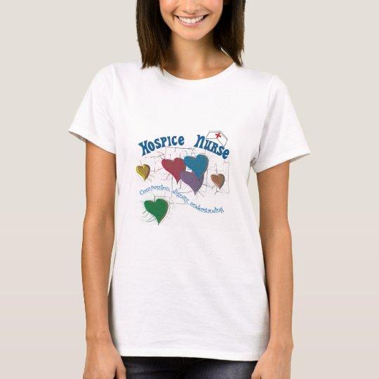 Hospice Nurse Multi Colored Hearts T-Shirt