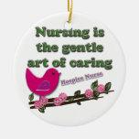 Hospice Nurse Double-Sided Ceramic Round Christmas Ornament
