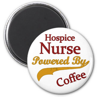 Hospice Nurse Powered By Coffee 2 Inch Round Magnet