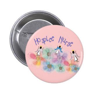 Hospice Nurse WHISPY Angels Design Pinback Button