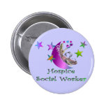 Hospice Social Worker Button
