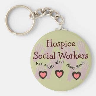 "Hospice Social Workers ""Angels With Many Hands"" Keychain"