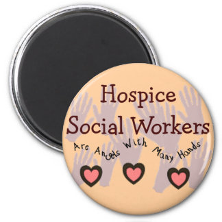 "Hospice Social Workers ""Angels With Many Hands"" Refrigerator Magnets"