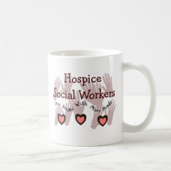 """Hospice Social Workers """"Angels With Many Hands"""" Classic White Coffee Mug"""