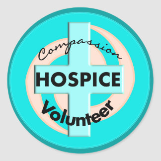 Hospice Volunteer Gifts (Discount Priced) Classic Round Sticker
