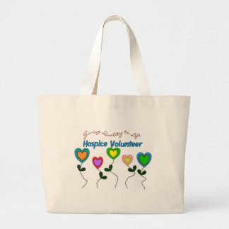 Hospice Volunteer Shirts and Gifts Large Tote Bag