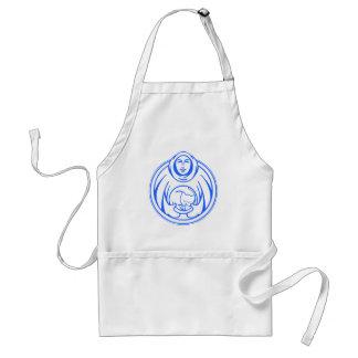 Hospicio de St Francis para el logotipo del azul d Delantal