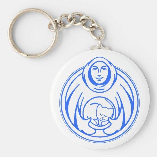 Hospicio de St Francis para el logotipo del azul d Llaveros Personalizados