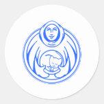 Hospicio de St Francis para el logotipo del azul d Etiqueta
