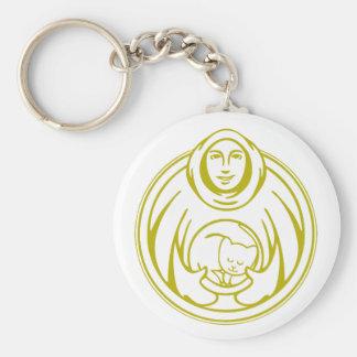 Hospicio de St Francis para el logotipo del oro de Llavero Redondo Tipo Pin