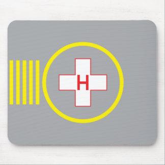Hospital 5 del cojín de ratón del helipuerto tapete de ratón