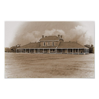 Hospital at Ft. Richardson Texas Poster