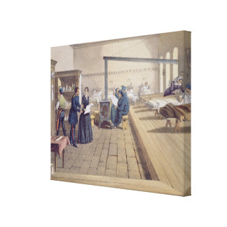 Hospital at Scutari detail of Florence Nightingal Stretched Canvas Prints