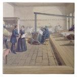 Hospital at Scutari, detail of Florence Nightingal Ceramic Tile