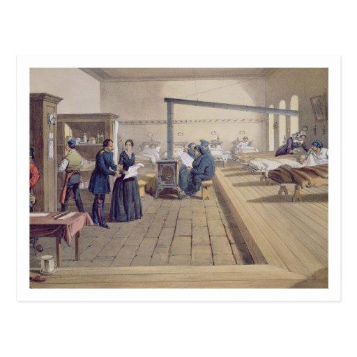 Hospital at Scutari, detail of Florence Nightingal Postcard