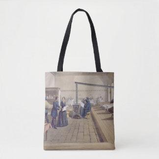 Hospital at Scutari, detail of Florence Nightingal Tote Bag