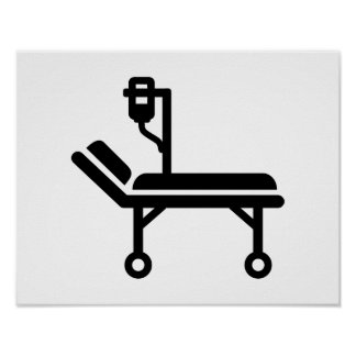 Hospital bed poster