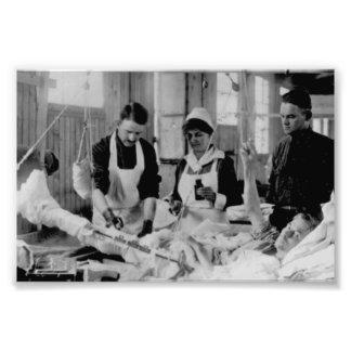 Hospital de campaña de la enfermera de la Primera  Fotografías