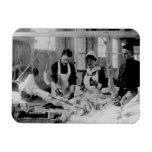 Hospital de campaña de la enfermera de la Primera  Imanes Rectangulares