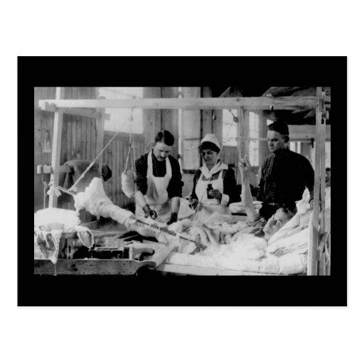 Hospital de campaña de la enfermera de la Primera Postal