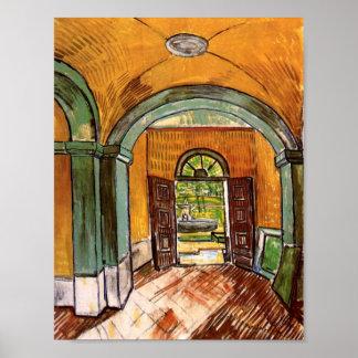 Hospital de hall de entrada de Van Gogh San Pablo Póster