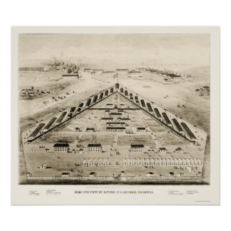 Hospital de Lincoln en Washington DC 1865 Posters