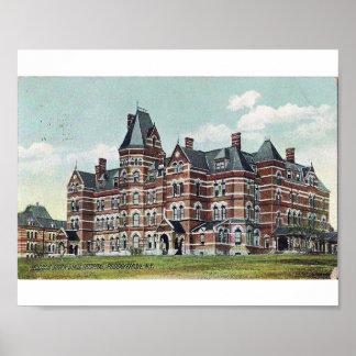 Hospital estatal del río Hudson Póster