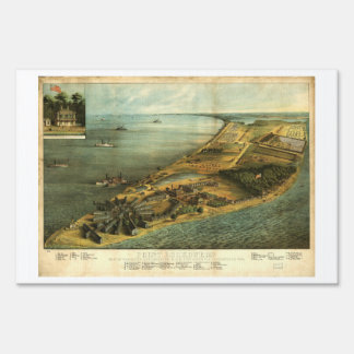Hospital General y prisión 1864 de Hammond de la Letreros