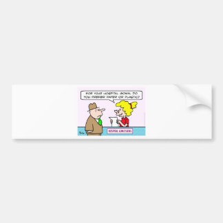 hospital gown paper plastic admissions bumper sticker