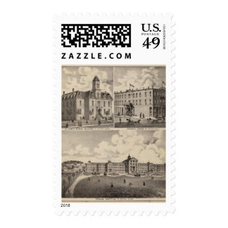 Hospital insano, construcción de escuelas pública, sello