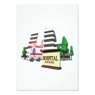 """Hospital Invitación 5"""" X 7"""""""