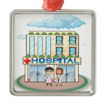 Hospital Metal Ornament