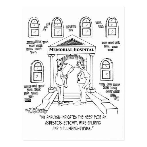 Hospital Needs An Asbestos-ectomy Post Card