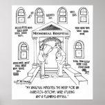 Hospital Needs An Asbestos-ectomy Poster