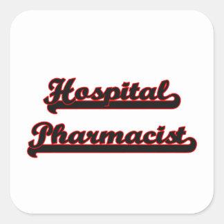 Hospital Pharmacist Classic Job Design Square Sticker