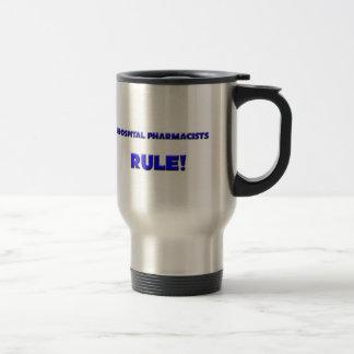 Hospital Pharmacists Rule! 15 Oz Stainless Steel Travel Mug