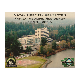 """Hospital picture 8""""x10"""" (on wood) wood print"""