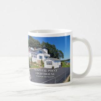 Hospital Point Lighthouse, Massachusetts Coffee Mug