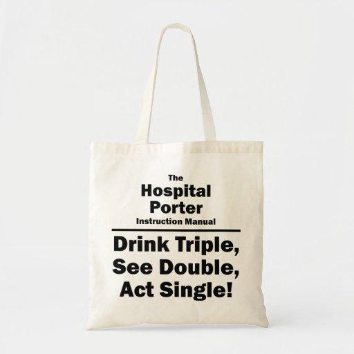 hospital porter budget tote bag