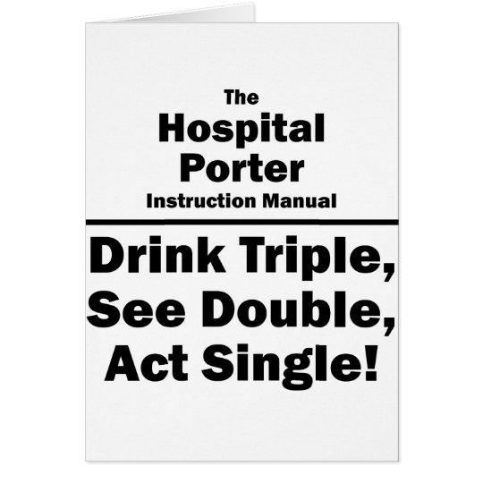 hospital porter card