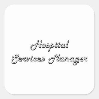 Hospital Services Manager Classic Job Design Square Sticker