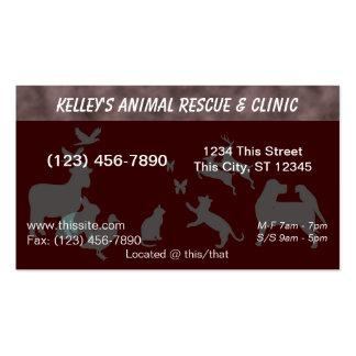 hospital veterinario del profesional del color de  tarjeta de negocio
