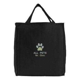Hospital veterinario personalizado modificado para bolsa de tela bordada