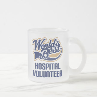 Hospital Volunteer Gift Frosted Glass Coffee Mug