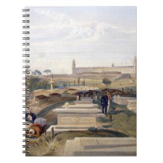 Hospital y cementerio, Scutari, placa 'del SE Libro De Apuntes Con Espiral