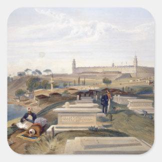 Hospital y cementerio, Scutari, placa 'del SE Pegatina Cuadrada