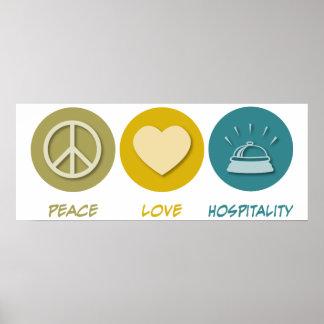 Hospitalidad del amor de la paz posters