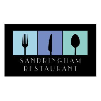 Hospitality Food Fork Spoon Knife Business Card