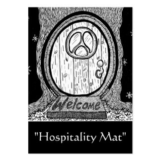 """Hospitality Mat"" ACEO Art Trading Card"